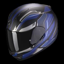 Scorpion EXO 390 Boost - Mat Zwart/Zilver/Blauw