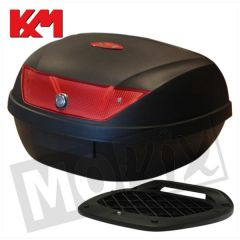 KM Topkoffer 51L - Rode reflector
