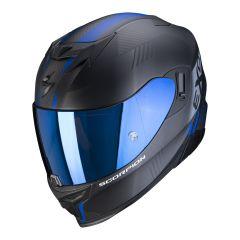 Scorpion EXO-520 Air Laten - Mat Zwart / Blauw