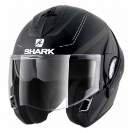 Shark Evoline 3 Hyrium - Zwart / Antraciet / Wit