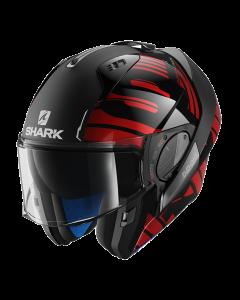 Shark Evo-One 2 Lithion Dual - Zwart / Chrome / Rood