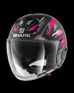 Shark Nano Kanhji Mat - Zwart / Zilver / Violet
