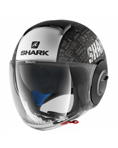 Shark Nano Jethelm - Tribute RM / Zwart / Wit / Antraciet_1