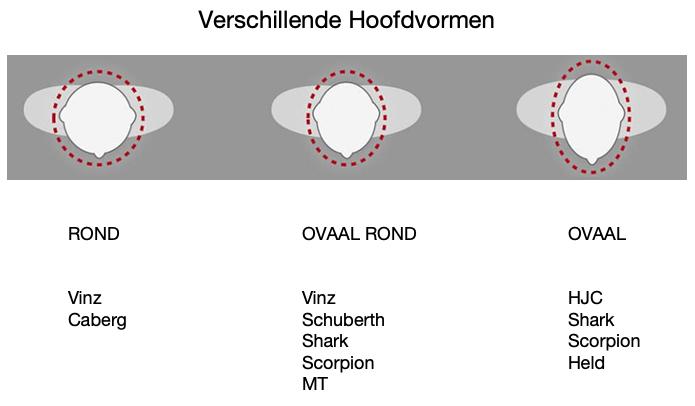 Verschillende hoofdvormen