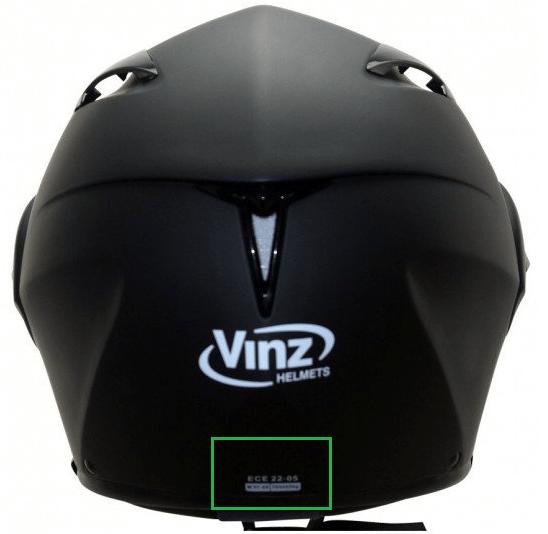 ECE 22.05 keurmerk Vinz helm - Helmonline.nl